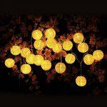 Innoo Tech Guirlande Solaire Exterieure, 30 Boules LED, Longeur 6M, 2 modes Guirlandes Lumineuses Solaires pour Maison Jardin Soirée Mariage Fête Noël [Classe énergétique A+++] (Blanc Chaud) de la marque Innoo Tech image 2 produit