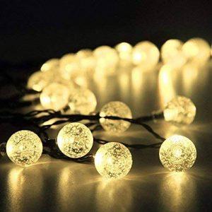 Innoo Tech Guirlande Solaire Exterieure, 30 LED boules, Longueur 4.5M, Eclairage Lampes Guirlandes Lumineuses Solaires Exterieure(Blanc chaud) [Classe énergétique A+++] [Classe énergétique A+++] de la marque Innoo Tech image 0 produit