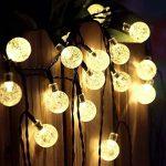 Innoo Tech Guirlande Solaire Exterieure, 30 LED boules, Longueur 4.5M, Eclairage Lampes Guirlandes Lumineuses Solaires Exterieure(Blanc chaud) [Classe énergétique A+++] [Classe énergétique A+++] de la marque Innoo Tech image 1 produit
