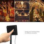 InnooLight guirlande lumineuse solaire étanche, 100 Led 10 mètres de fil de cuivre ( blanc chaude ) de la marque Innoo Tech image 4 produit