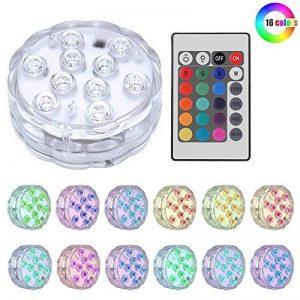 IPUIS Bougies LED Submersible Blanc/Vert/Bleu/Rouge/Rose/Couleurs Avec télécommande (1) de la marque IPUIS image 0 produit