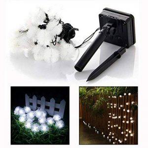 Itian 20 LED Lumineuse Extérieur Boule de Pissenlit Guirlande Solaire, Lumière Pissenlit en Forme de Rideau Lampe pour Jardin Extérieur Camping Patio Party de Noël (Blanc) de la marque Itian image 0 produit