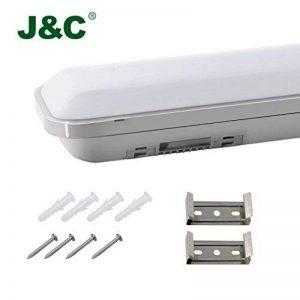 J & C® 60cm/120cm Lampe Luminaire Lampe Coffre LED pour garage et la piscine, 60cm(18Watt), 1er-Pack 18.00 watts 230.00 volts de la marque J&C image 0 produit
