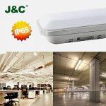 J & C® 60cm/120cm Lampe Luminaire Lampe Coffre LED pour garage et la piscine, 60cm(18Watt), 1er-Pack 18.00 watts 230.00 volts de la marque J&C image 1 produit