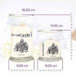 """JewelCandle """"Creamy Vanilla - Bougie parfumée avec bijou surprise en argent (Boucles d'oreilles) de la marque JewelCandle image 2 produit"""