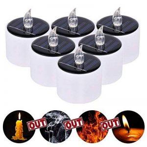 Jiedu 6 pcs lumière solaire LED lampe à bougie sans flamme blanc chaud Tealight pour fête, décoration de fête Décoration de fleurs et décoration de mariage de la marque Jiedu image 0 produit