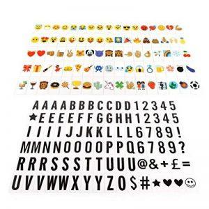 JIM'S STORE 96 Lettre Noire 85 Emoji Symbole Coloré pour A4 Boîte Lumineuse DIY Panneaux de Cinéma pour Accueil Fête Décoration & Éducation Précoce de la marque JIM'S STORE image 0 produit