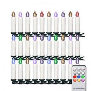 Jingrong Bougies LED Bougies D'arbre de Noël Sans Flamme avec Télécommande pour Arbre de Noël (30pcs) de la marque Jingrong image 0 produit