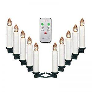 Jingrong Bougies LED Bougies scintillantes blanc chaud avec télécommande et clips amovibles pour arbre de Noël, lustre, bougies d'église, décoration de maison et de fête (10 pièces) de la marque Jingrong image 0 produit