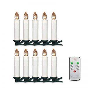 Jingrong Bougies LED Bougies Scintillantes Blanches Chaudes avec la Télécommande et Les Agrafes démontables pour L'arbre de Noël, Lustre, Bougies D'église, Décoration de Maison et de Partie(10PCS) de la marque Jingrong image 0 produit