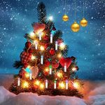 Jingrong Bougies LED Bougies scintillantes multicolores avec télécommande de minuterie et clips amovibles pour arbre de Noël, lustre, bougies d'église, décoration de maison et de fête (10pcs) de la marque Jingrong image 2 produit