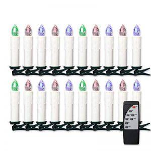 Jingrong Bougies LED Changement de couleur des bougies de pilier avec des modifications de lumière de fonction de minuterie (20pcs) de la marque Jingrong image 0 produit