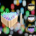 Jingrong Bougies LED Changement de couleur des bougies de pilier avec des modifications de lumière de fonction de minuterie (20pcs) de la marque Jingrong image 1 produit
