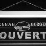 Jintora Neon Sign - Enseigne au Néon - Ouvert Kebab -  Ouvert Kebab - Fête, discothèque, Club, Bistro, Restaurant, Magasin de la marque Jintora image 1 produit