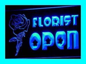 Jintora Neon Sign - Enseigne au Néon - Open Florist - Fleuriste Open - Fête, discothèque, Club, Bistro, Restaurant, Magasin de la marque Jintora image 0 produit