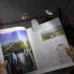JTDEAL Portable Lampe de Lecture Led, 2 Têtes Flexible et 8 Led avec Rechargeable Câble USB, 4 Niveaux de Luminosité Support à Pince pour Ordinateur, Livre, Lit (Blanc Lumière) de la marque JTDEAL image 4 produit