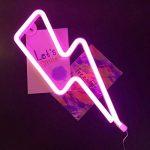 juqilu LED Neon Light Signs, Nuage/Etoile / Lune/Foudre Décor Night Light pour Chambre à Coucher, Salon, Mariage, Cadeau de Noël, Batterie et USB Power de la marque juqilu image 3 produit