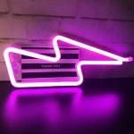 juqilu LED Neon Light Signs, Nuage/Etoile / Lune/Foudre Décor Night Light pour Chambre à Coucher, Salon, Mariage, Cadeau de Noël, Batterie et USB Power de la marque juqilu image 4 produit