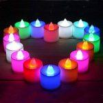 JVJ Bougies à LED Lot de 24 Lumières de Thé à Piles sans flammes,à LED Coloré de la marque JVJ image 1 produit