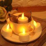 JZK 12 x Bougie LED Flamme Vacillante chauffe plat avec pile pour extérieur intérieur décorations pour jardin, chambre, mariage, Noël, Halloween, ou diverses fêtes et occasions, jaune de la marque JZK image 3 produit