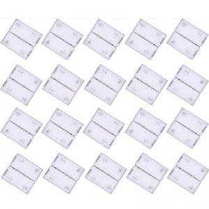 kabenjee 20x 5broches 12mm large RVBWW bande LED fixation à clip connecteur, 5broches connecteur rapide pour RGBW LED Stripes, rubans à LED, Bande LED 5050RGBW connecteur mâle (style: A) de la marque Kabenjee image 0 produit