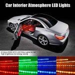 kdorrku Bande LED USB LED Éclairage intérieur de voiture Musik Sync LED pour éclairage d'intérieur Kit RGB Stripes, voiture Barre lumineuse LED étanche avec fonction acoustique et télécommande sans fil, 4x 22cm [Classe énergétique A +] de la marque kdor image 4 produit