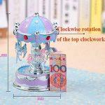 Kicode Emitting Cheval Carrousel Boîte à Musique Jouet avec Lumière Romantique Clockwork Boîtes de Musique Cru de la marque Kicode image 1 produit