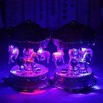 Kicode Emitting Cheval Carrousel Boîte à Musique Jouet avec Lumière Romantique Clockwork Boîtes de Musique Cru de la marque Kicode image 2 produit