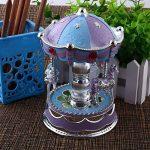 Kicode Emitting Cheval Carrousel Boîte à Musique Jouet avec Lumière Romantique Clockwork Boîtes de Musique Cru de la marque Kicode image 4 produit