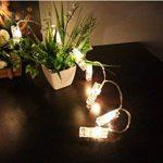 King Age LED Photo Clips Lumière Chaînes–40photo Clips 5m Batterie fonctionnant Éclairage d'ambiance décoration pour photo suspendu Memos oeuvres d'art de la marque cdsnxore® image 1 produit