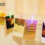 King Age LED Photo Clips Lumière Chaînes–40photo Clips 5m Batterie fonctionnant Éclairage d'ambiance décoration pour photo suspendu Memos oeuvres d'art de la marque cdsnxore® image 4 produit