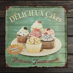 "KING DO WAY ""DÉLICIEUX Cakes"" Rétro Murale Plaque Décorative Enseigne Métal Décor Bar Café Garage Metal Sign-30cmX30cm de la marque KING DO WAY image 1 produit"