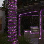 KINGCOO 100LED Ruban Lumineux Solaire Lampes de Corde, étanche 39ft 12M Fil de Cuivre Extérieur Tube Rope Guirlande Lumineuse pour Noël Jardin cour Chemin Clôture Arbre Backyard (Violet) de la marque KINGCOO image 2 produit
