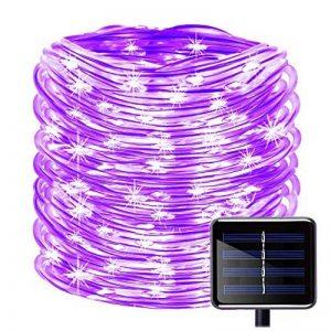 KINGCOO 100LED Ruban Lumineux Solaire Lampes de Corde, étanche 39ft 12M Fil de Cuivre Extérieur Tube Rope Guirlande Lumineuse pour Noël Jardin cour Chemin Clôture Arbre Backyard (Violet) de la marque KINGCOO image 0 produit