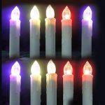 Kit de 10 Bougies Chandelle Electriques LED a Piles Remplacables avec Telecommande Sans flamme / Sans Cire pour Decoration de Maison / Mariage / Soiree / Fete de la marque Aoklea image 2 produit
