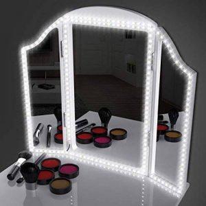 Kit de Ruban LED 4M avec Gradateur et Alimentation 12V, SMD 3528 240 LEDs, Bande Lumineuse Flexible pour Décoration d'éclairage Intérieur, Miroir de Maquillage(Miroir non Inclus) de la marque Electribrite image 0 produit