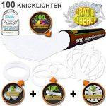 KnickLichter.com 100 Bâtons lumineux fluorescents Blancs de la marque KnickLichter image 1 produit