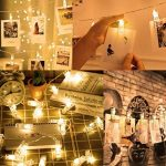 KNONEW LED Photo Clip String Lights - 20 clips photo 2.4M Battery Powered LED Éclairage d'image pour la décoration suspendue Photo, Notes, Artwork (Warm-White) de la marque KNONEW image 3 produit
