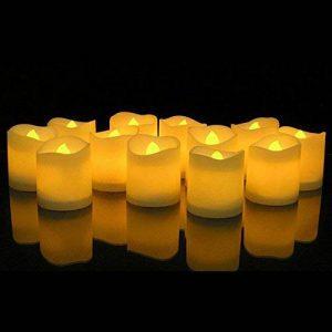 KOBWA Lot de 12 Bougies LED Lumières de Thé à Piles sans Flamme Réaliste et Bright Fausses Bougies pour Mariage, Noël, Décorations de Fête de la marque Kobwa image 0 produit