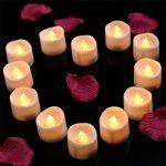 KOBWA Lot de 12 Bougies LED Lumières de Thé à Piles sans Flamme Réaliste et Bright Fausses Bougies pour Mariage, Noël, Décorations de Fête de la marque Kobwa image 3 produit