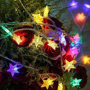 Kobwa Étoiles Lumière Guirlande Lumineuse, 5 m 50 Étoiles LED DIY Fée étoiles câble lumineux Latterns d'intérieur/extérieur à piles avec 2 modèles pour de mariage, fête d'anniversaire,chambre à couch de la marque Kobwa image 0 produit