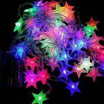Kobwa Étoiles Lumière Guirlande Lumineuse, 5 m 50 Étoiles LED DIY Fée étoiles câble lumineux Latterns d'intérieur/extérieur à piles avec 2 modèles pour de mariage, fête d'anniversaire,chambre à couch de la marque Kobwa image 1 produit