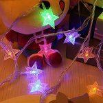 Kobwa Étoiles Lumière Guirlande Lumineuse, 5 m 50 Étoiles LED DIY Fée étoiles câble lumineux Latterns d'intérieur/extérieur à piles avec 2 modèles pour de mariage, fête d'anniversaire,chambre à couch de la marque Kobwa image 3 produit