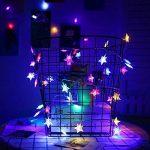 Kobwa Étoiles Lumière Guirlande Lumineuse, 5 m 50 Étoiles LED DIY Fée étoiles câble lumineux Latterns d'intérieur/extérieur à piles avec 2 modèles pour de mariage, fête d'anniversaire,chambre à couch de la marque Kobwa image 4 produit