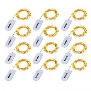 Kohree 12 Guirlandes Lumineuses à Piles 20 LED 2.2M Fil Cuire pour Mariage, Fête, Maison, Jardin, Noël de la marque Kohree image 0 produit