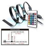 Kohree 2x50cm Rubans LED Flexible Bandeaux LED RGB Bande lumineuse Lumière Ambiance avec Contrôleur Télécommande Rétroéclairage pour Téléviseur Ecran Ordinateur 60leds/m de la marque Kohree image 3 produit