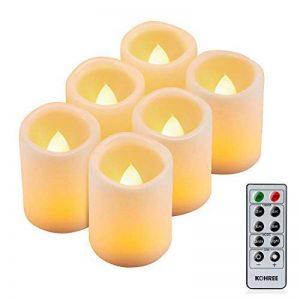 Kohree 6 Bougies LED A Piles Flamme Vacillante Programmation Automatique Vacillement Naturel Jaune Ambré Avec Télécommande de la marque Kohree image 0 produit