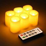 Kohree 6 Bougies LED A Piles Flamme Vacillante Programmation Automatique Vacillement Naturel Jaune Ambré Avec Télécommande de la marque Kohree image 2 produit