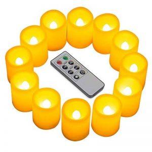 Kohree - Bougies LED à piles Lot de 12 Splendide bougies LED sans flammes avec télécommande et minuterie de la marque Kohree image 0 produit