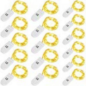 Kohree lot de 8 Guirlande Lumineuse à Piles 20 LED 2M Fil Cuire Décoration pour Mariage, Fête, Maison, Jardin, Sapin de Noël (Jaune chaud) de la marque Kohree image 0 produit